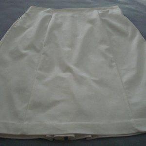 Worthington White lined Skirt  Size 16